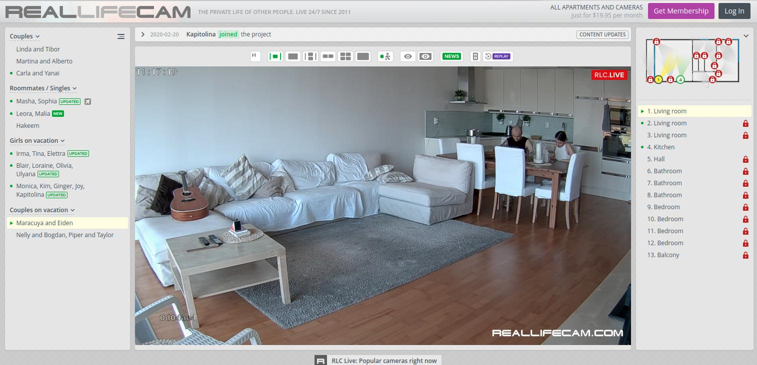 RealLifeCam Home Page Screenshot