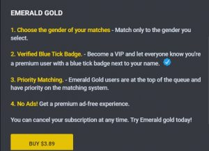 Emerald Chat Cost