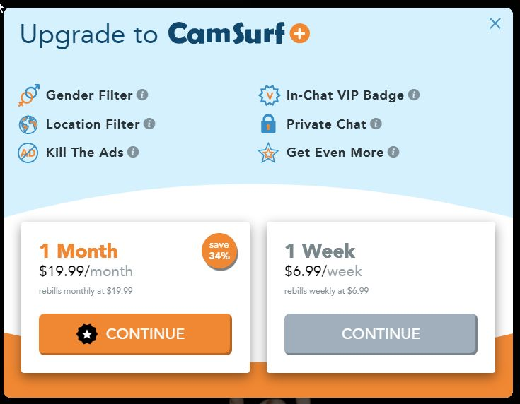 camsurf prices