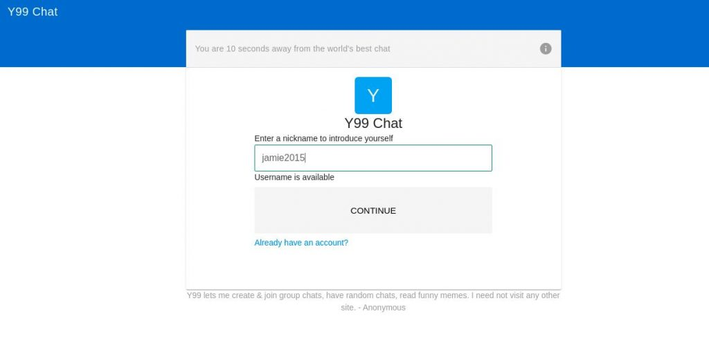 Y99chat home